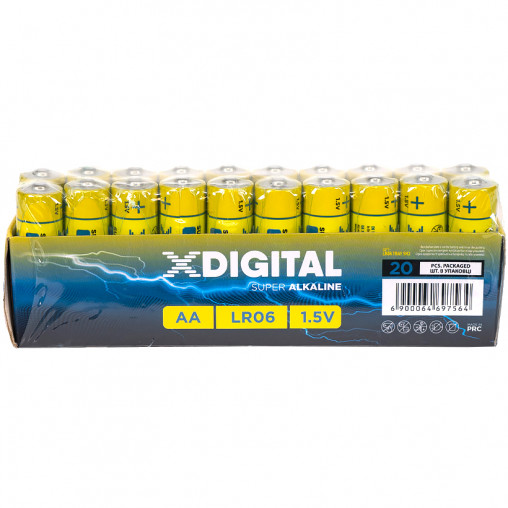 Батарейка X-DIGITAL  LR-06 АА Tray EAN по 2 штук