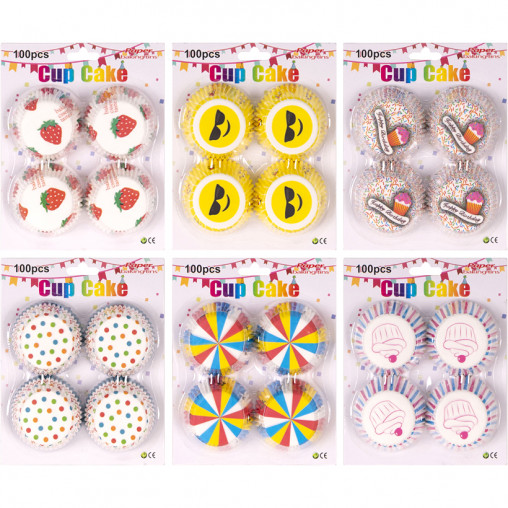 Формочки для кексов бумажные 100 штук X3-118