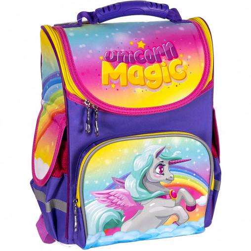 "Рюкзак-коробка ортопедический SPACE ""Unicorn magic girl"" 33*26*13см 988805"