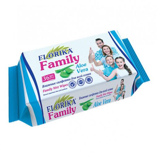 """Влажные салфетки """"Florika"""" Family 36 штук 350424"""