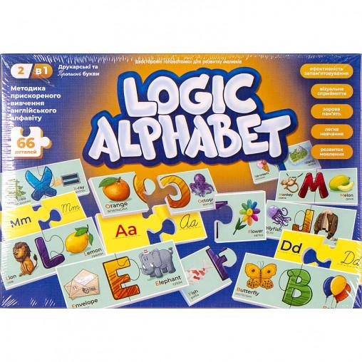 """Развивающие пазлы-ассоциации """"Logic Alphabet"""" англ/укр G-LoA-01-04U ДТ-ЛА-06-46"""