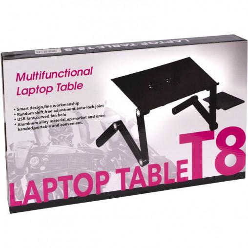 Столик трансформер для ноутбука LAPTOP TABLE T8 карбон