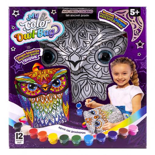 """Креативна творчість """"My Color Owl-Bag"""" рюкзачок-сова укр COWL-01-01U ДТ-ОО-09181"""