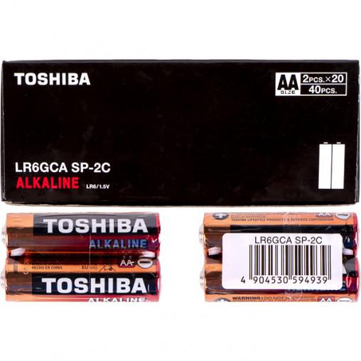 Батарейка Toshiba LR6 GCA SP-2C Economy Alkaline 594939/00159941
