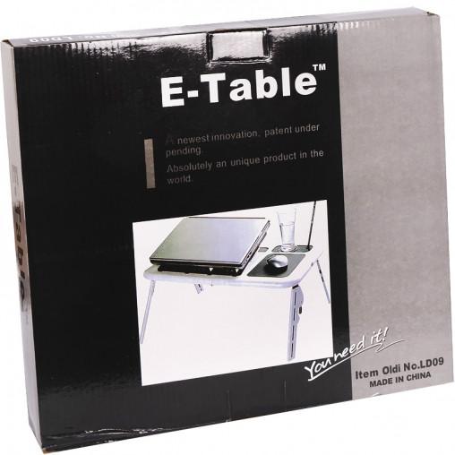 Складной столик для ноутбука с охлаждением  E-TABLE  LD09