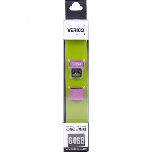 Флешка Verico USB 64Gb MiniCube Pink 1UDOV-M7PK63-NN 601804/056201