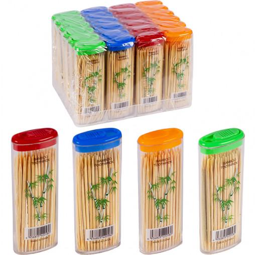"""Зубочистки бамбуковые """"карманные"""" 63мм,70шт 7,5*3*1,5см X1-40/36302-2"""