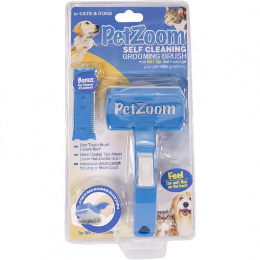 Щетка для животных самоочищающаяся Pet Zoom Self Cleaning 28613-43