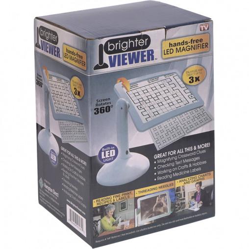 Универсальная настольная лупа с LED подсветкой BRIGHTER VIEWER 17-6