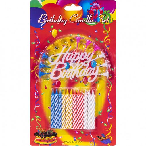 """Свечки для торта """"Happy Birthday"""" SR-41/10-100"""