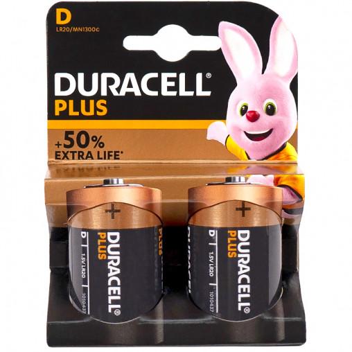 Батарейка Duracell Plus LR-20 по 2 штуки
