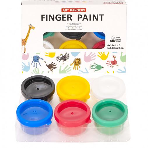 Гуашь пальчиковая 6 цветов по 35мл RFC0635-2