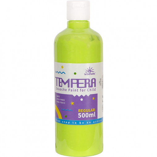 """Краска Gouache 500мл 014 яркая """"Green Leaf"""" 014А"""