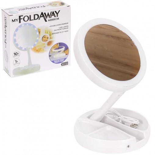 Зеркало для макияжа с LED-подсветкой круглое 28613-45