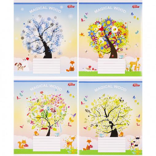 Тетрадь цветная 18 листов, клетка 3081к