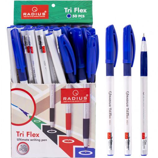 """Ручка """"Tri Flex"""" RADIUS перламутровый  корпус 50шт синяя 779306"""