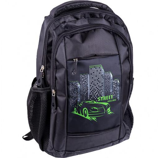 """Рюкзак California S """"Зеленая машина"""" черный 38*27*10см 980316"""