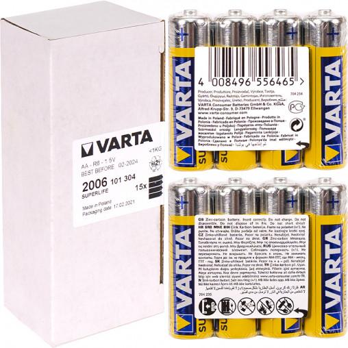 Батарейки R6 Varta Superlife ZnCb AA 4 шт 022397