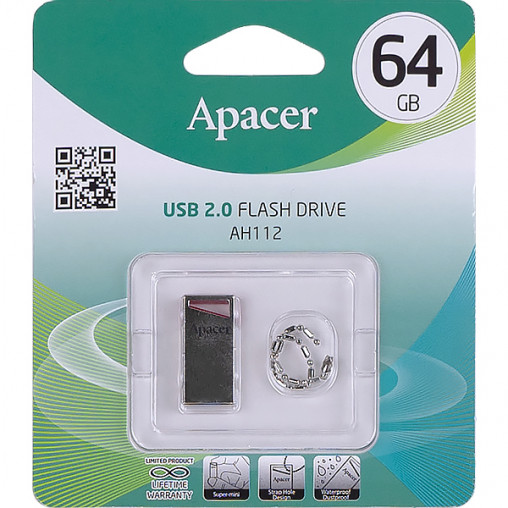 Флешка Apacer USB 64Gb AH112 Red AP64GAH112R-1 913470/057268