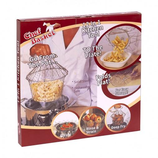 Складная сетка для варки, жарки и фритюра Chef Basket BN-6045