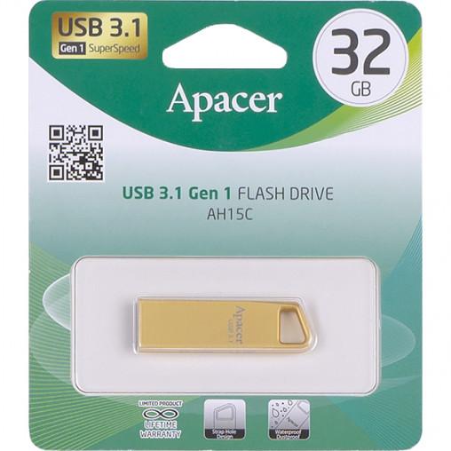 Флешка Apacer USB 32Gb AH15C Metal gold USB 3.1 AP32GAH15CC-1 915863/064498