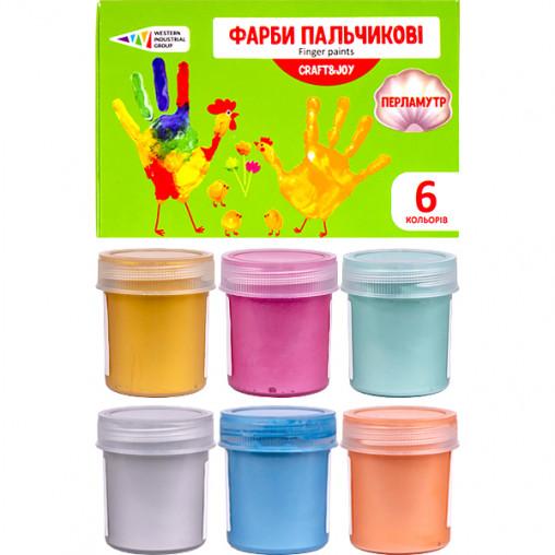 """Краски пальчиковые 6 цветов, 240 мл Craft and Joy """"Гамма"""" 322074/Cr"""
