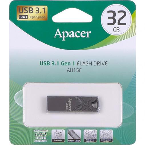 Флешка Apacer USB 32Gb AH15F Metal ashy USB 3.1 AP32GAH15FA-1 916464/064500