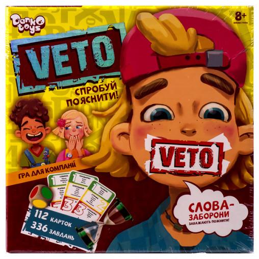 "Настольная игра ""VETO"" УКР VETO-01-01U ДТ-МН-14-34"