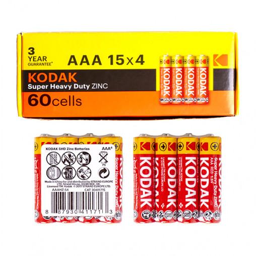 Батарейка KODAK R-03 AAА 60 штук 411718/30411715/В