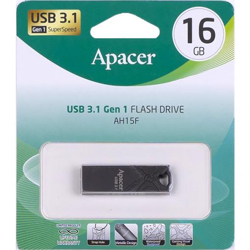 Флешка Apacer USB 16Gb AH15F Metal ashy USB 3.1 AP16GAH15FA-1 916457/064481