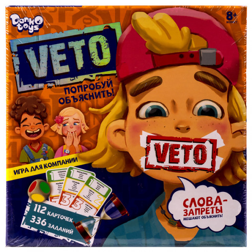 "Настольная игра  ""VETO"" РУС VETO-01-01 ДТ-МН-14-33"