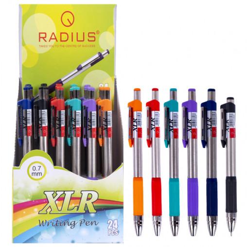 """Ручка """"XLR"""" RADIUS корпус 6 цветов, 24 штук, синяя 778163"""
