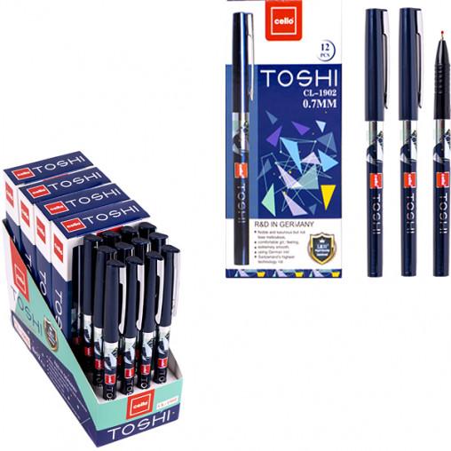 """Ручка масляная TOSHI """"Сello"""" CL1902-12 синяя"""