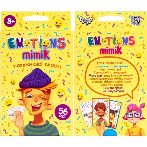 """Карточная игра """"Emotions Mimik"""" укр. EM-01-01U ДТ-МН-14-18"""