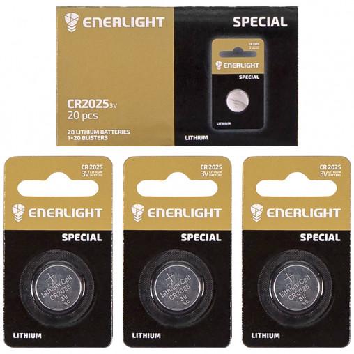 "Батарейка ENERLIGHT ""таблетка"" 2025 502543"