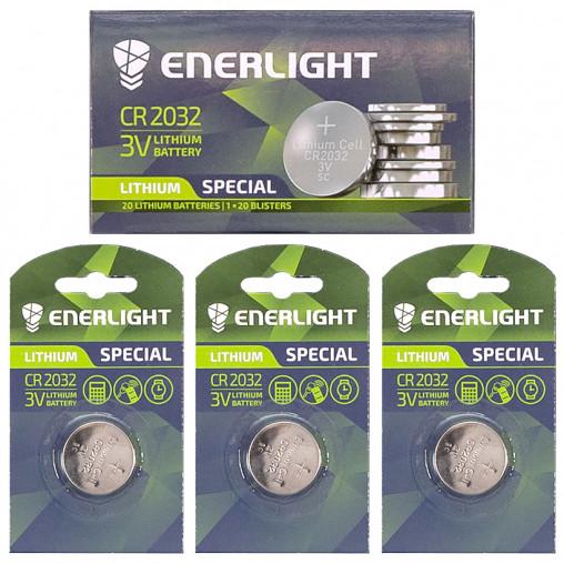 "Батарейка ENERLIGHT ""таблетка"" 2032 502574"