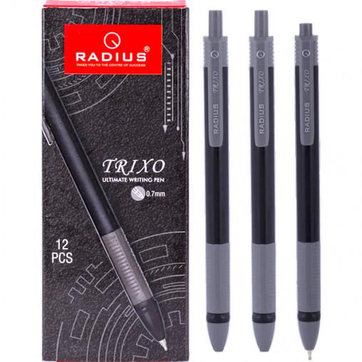 Ручка TRIXO черный корпус, упак.12шт.стержень черный 780258