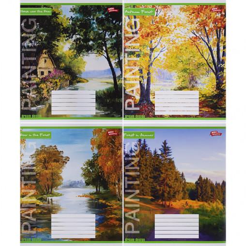 Тетрадь цветная 24 листа, линия 3044л
