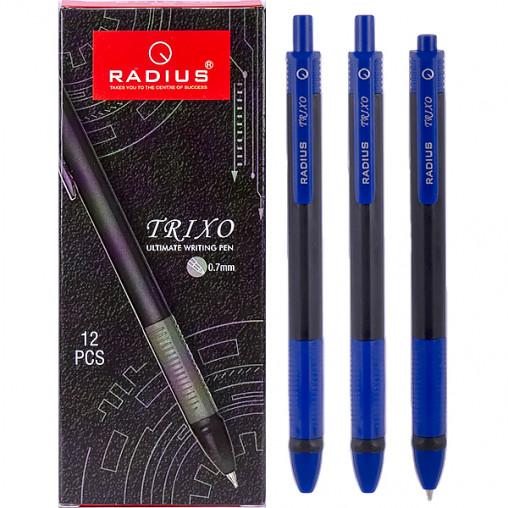 Ручка TRIXO черный корпус, упак.12шт.стержень синий 780258