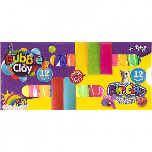 "Креативное творчество ""Air Clay+Bubble Clay"" 12 шт+12 шт укр ARBB-02-01U ДТ-ТЛ-02133"