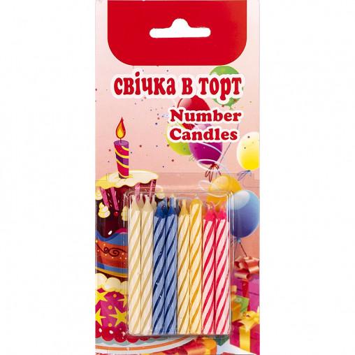 Набор свечей для торта 16 штук 5,5см 16М-16