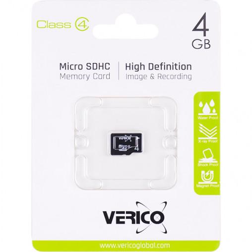 Карта памяти Verico MicroSDHC 4GB Cl 4 (card only)1MCOV-MDH643-NN 600210/019593