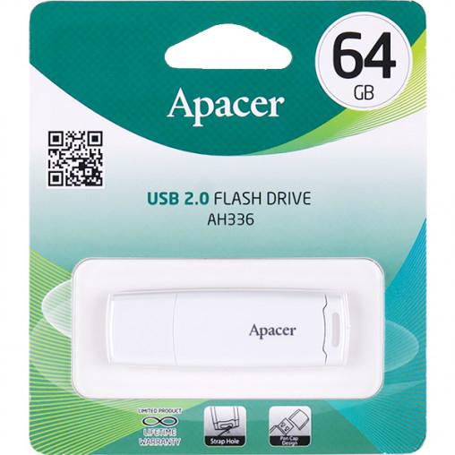Флешка Apacer USB 64Gb AH336 White AP64GAH336W-1 915634/057272