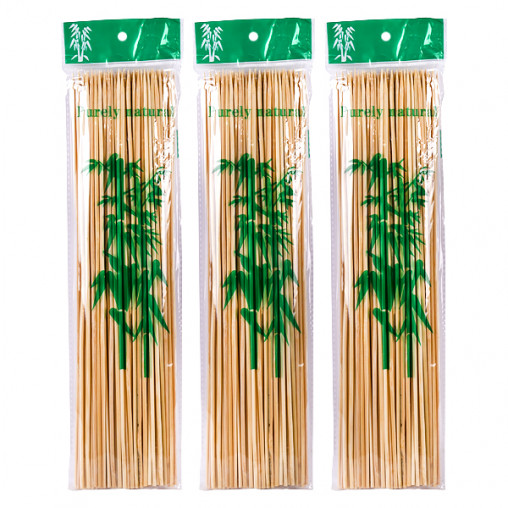 Бамбуковые палочки для барбекю и гриля 30см*3мм X1-222