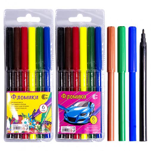 """Фломастер 6 цветов """"Фломики"""" """"C"""" 858-6/550-6"""
