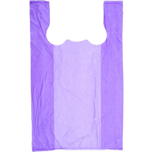 Пакет поліетиленовий майка Ведмедик №1 фіолетовий