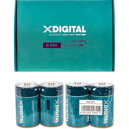 Батарейка X-DIGITAL  Longlife R-20 по 2 штук