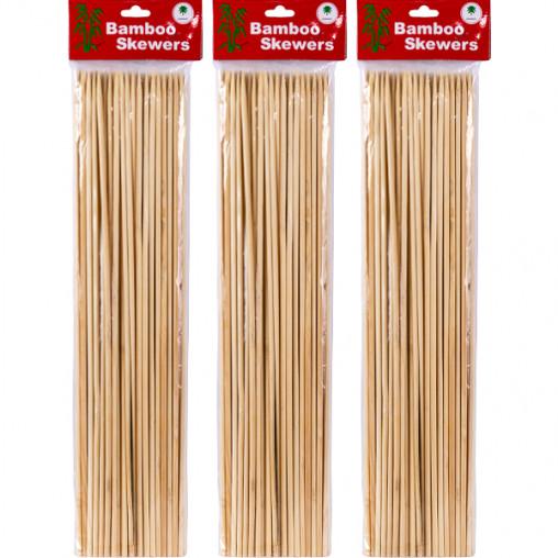 Бамбуковые палочки для барбекю и гриля 40см*4мм X1-231
