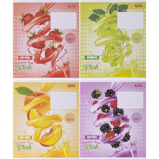 Тетрадь цветная 18 листов, линия 2989л