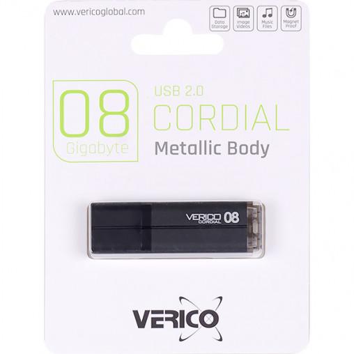 Флешка Verico USB 8Gb Cordial Black 1UDOV-MFBK83-NN 601217/018063